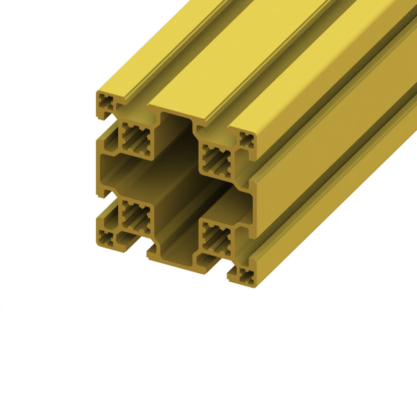80 x 80 SlotPro 8 Slot Standard Extrusion Powder Coated Yellow