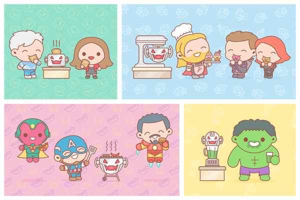 """Age of Ultron Kitchen Essentials"" by 100% Soft - Hero Complex Gallery"