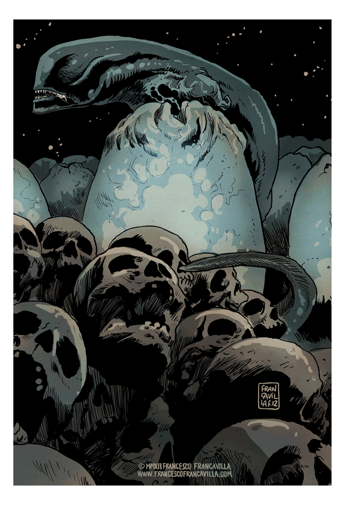 """Xeno"" by Francesco Francavilla"