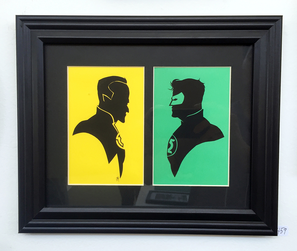 459. Green Lantern and Sinestro by Jordan Monsell - Hero Complex Gallery