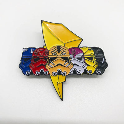 "250. ""Mighty Morphin Troopers"" Pin by Punch It Chewie Press"