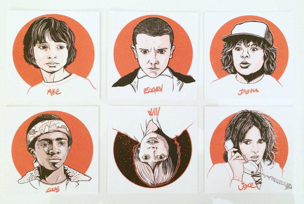 """Stranger Things"" Handbills by Patrick Connan"
