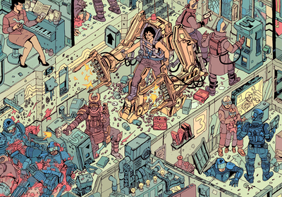 """The Raid"" by Josan Gonzalez & Laurie Greasley - Hero Complex Gallery  - 5"
