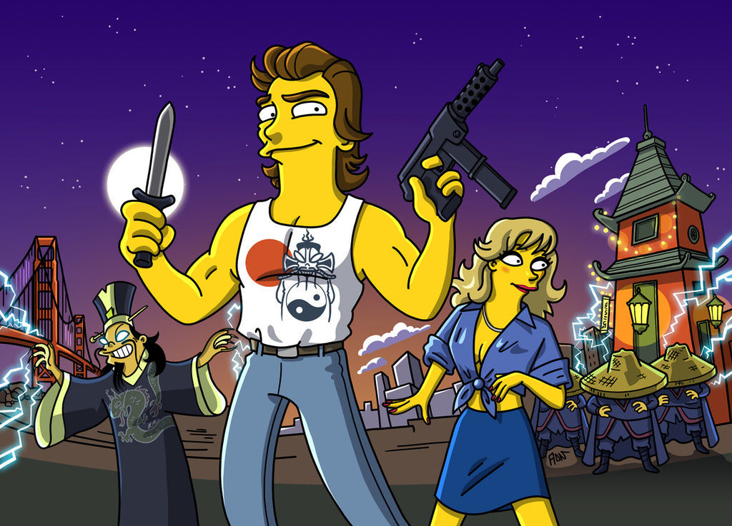 """Little China Simpsonized"" by ADN - Hero Complex Gallery"