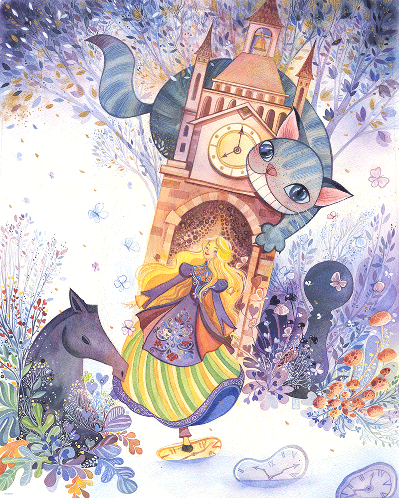 """Running Through Time"" Original by Alina Chau - Hero Complex Gallery"