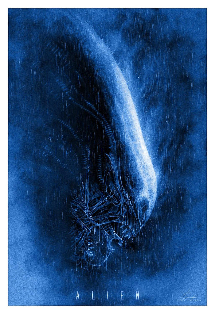 """Alien"" Blue AP by Casey Callender - Hero Complex Gallery"