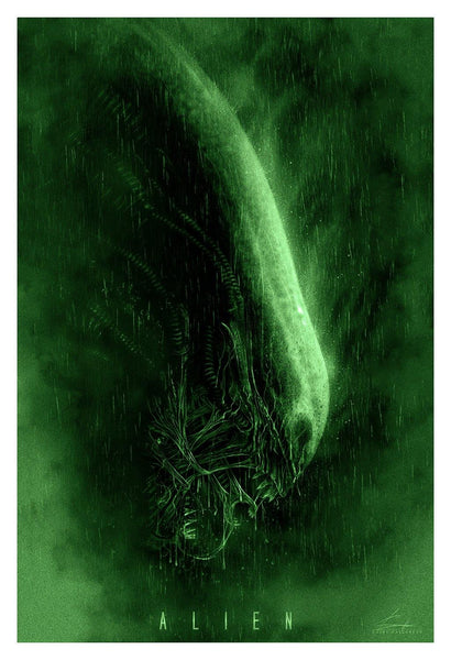 """Alien"" Green Variant by Casey Callender - Hero Complex Gallery"
