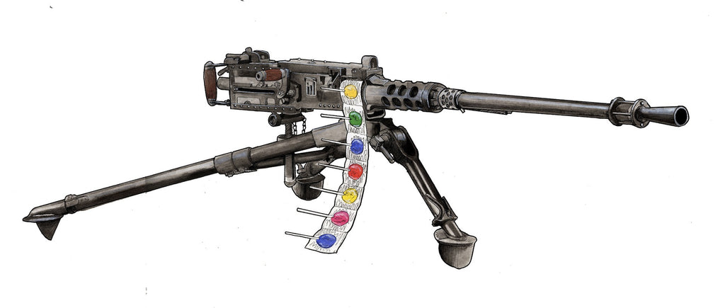 """Lollypop Gun"" by Adam Wheatley $750.00 - Hero Complex Gallery"