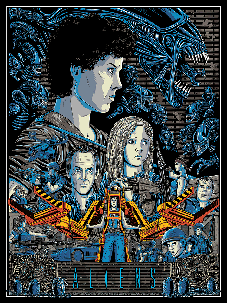 """Aliens"" by Aaron Haynes - Hero Complex Gallery"