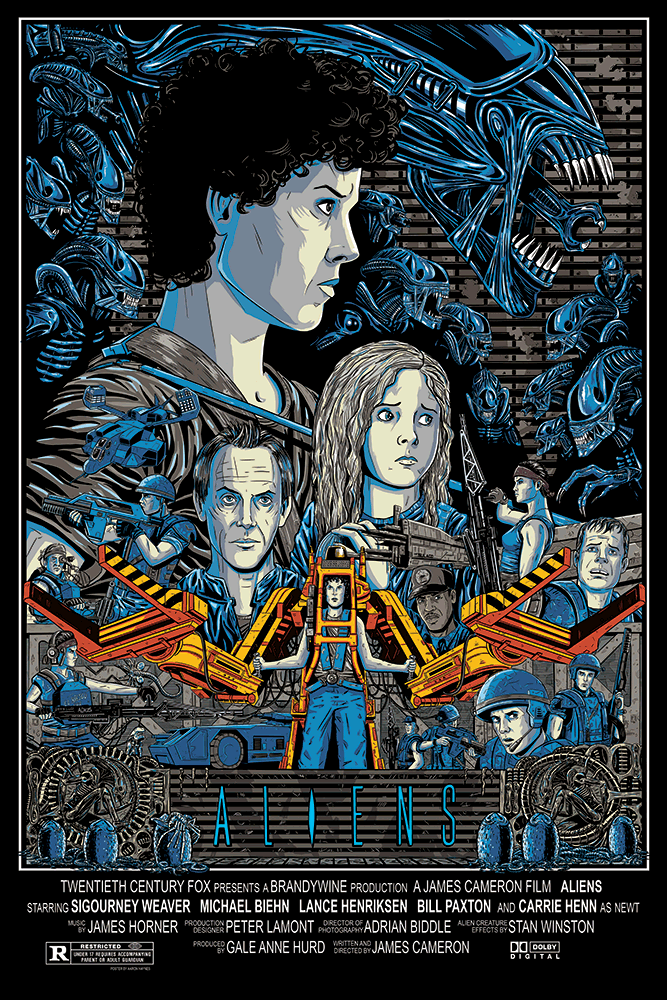 """Aliens"" Large by Aaron Haynes - Hero Complex Gallery"