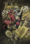 """Hellboy vs. Kriegaffe, Number 14"" by Aaron Klopp $1,500.00 - SOLD OUT - Hero Complex Gallery"
