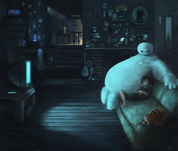 """Movie Night"" by Aaron Bartling - Hero Complex Gallery"