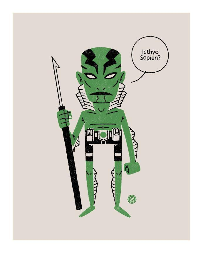 """Abe Sapien"" by Greg Storey - Hero Complex Gallery"