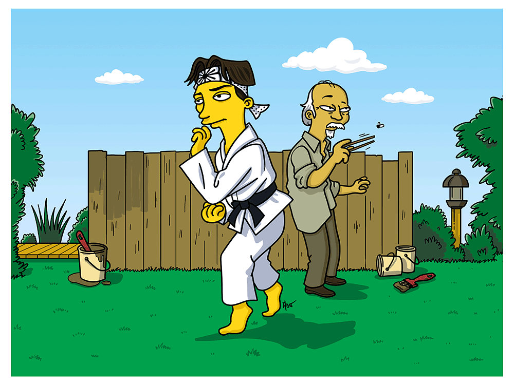 """Karate Kid Simpsonized"" by ADN - Hero Complex Gallery"