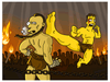 """Kickboxer Simpsonized"" by ADN - Hero Complex Gallery"