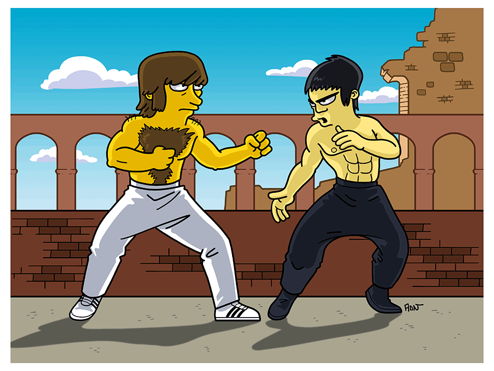 """Way of the Dragon Simpsonized"" by ADN - Hero Complex Gallery"