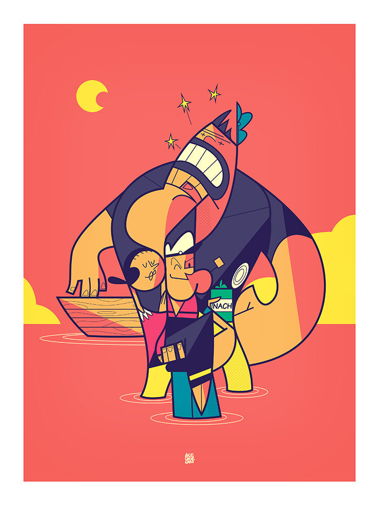 """Sea, Moon and Stars"" by Ale Giorgini - Hero Complex Gallery"