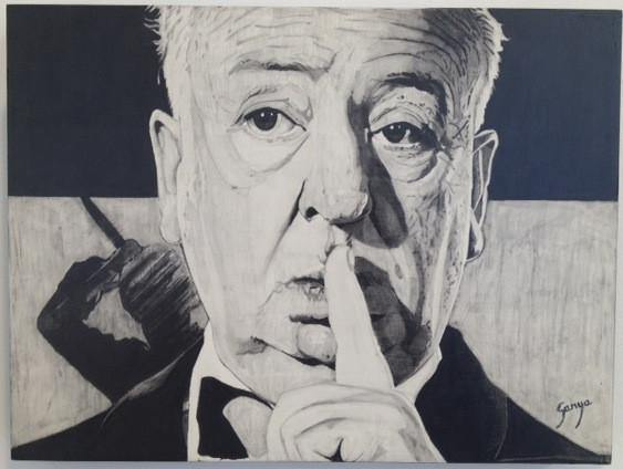 """Alfred Hitchcock"" Original by Ganya - Hero Complex Gallery"