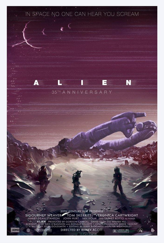 """Alien 35th Anniversary"" Large by Scott Hopko - Hero Complex Gallery"