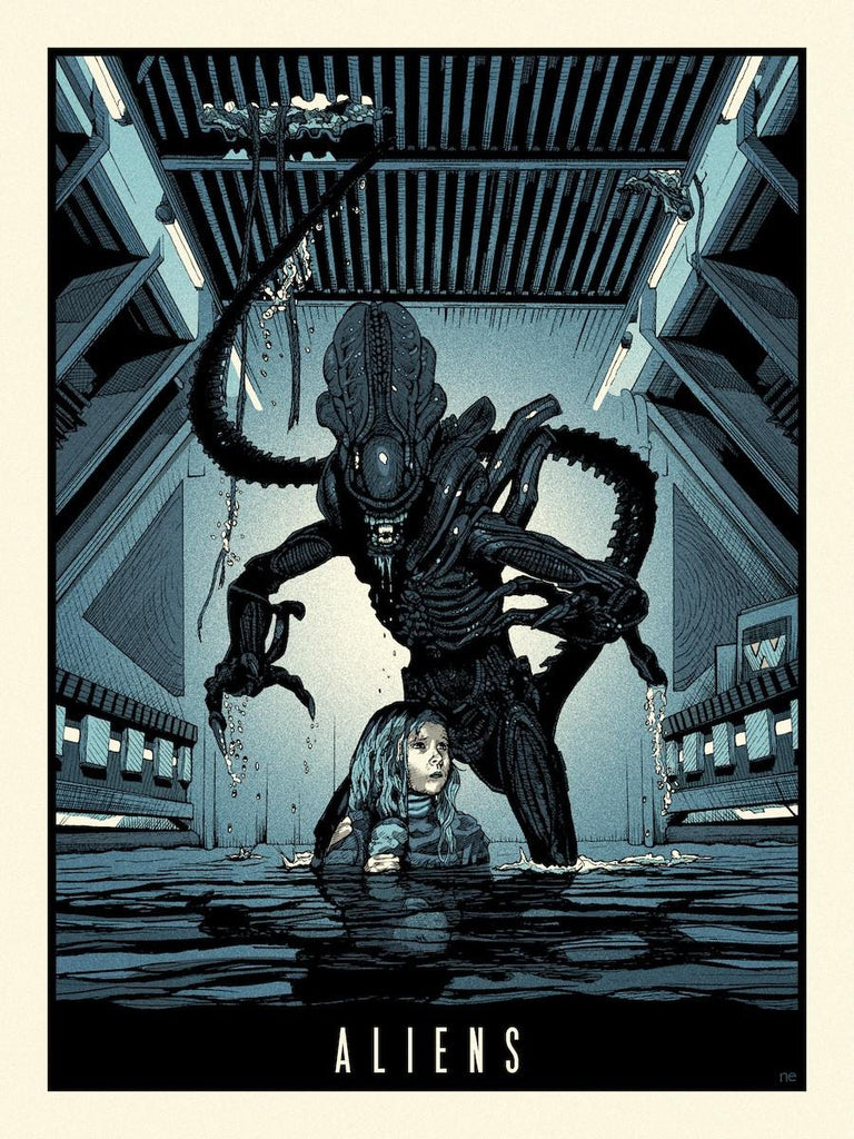 """Aliens"" Pale Blue Variant by New Flesh"