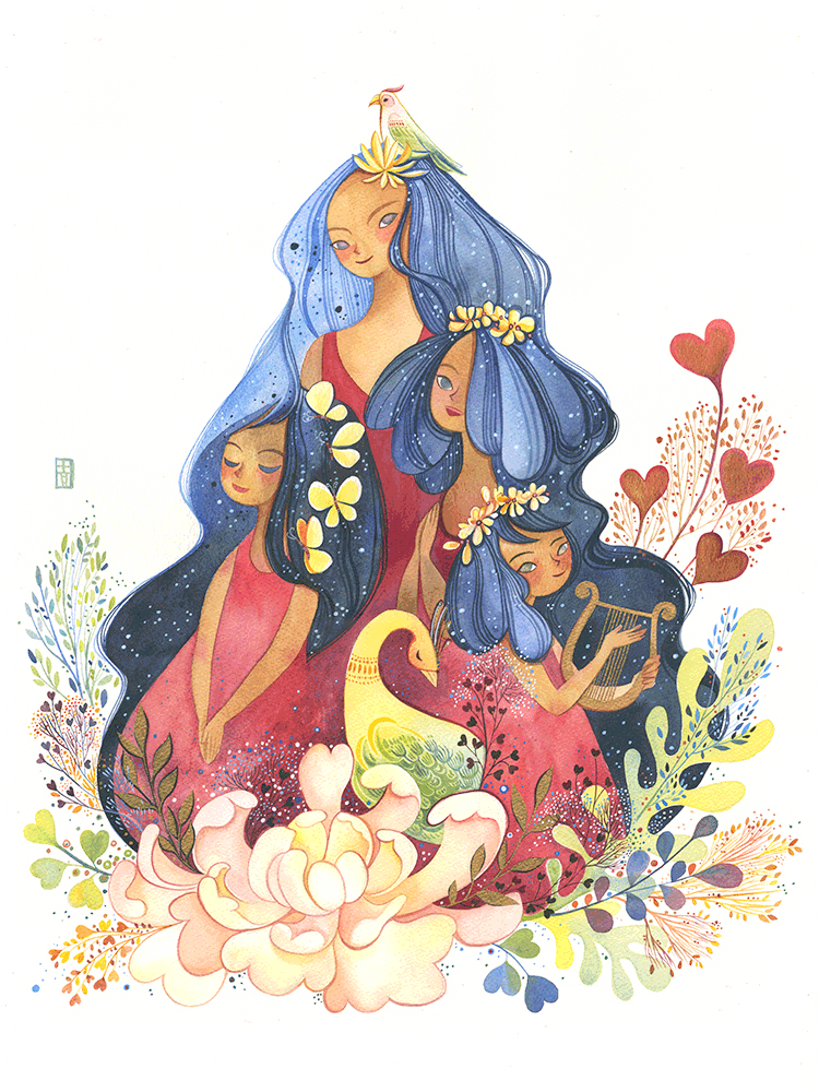 4 of Hearts by Alina Chau - Hero Complex Gallery