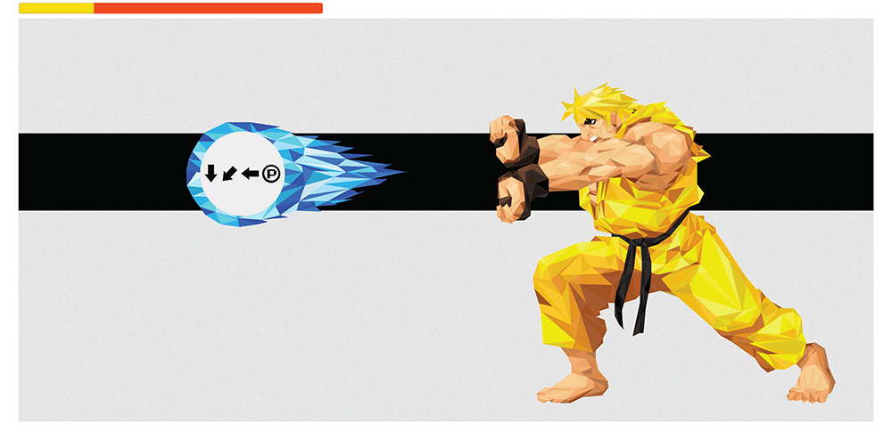 """Hadouken! - Ken"" Yellow Variant by Andy Duke - Hero Complex Gallery"