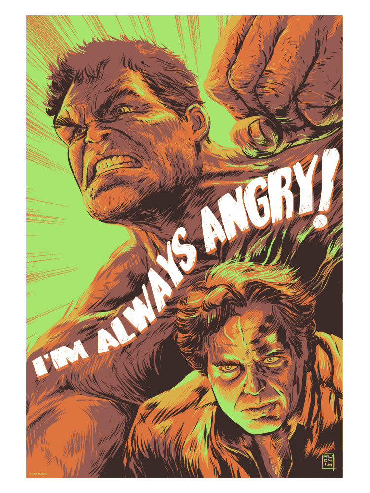 """I'm Always Angry"" by Aurelio Lorenzo - Hero Complex Gallery"