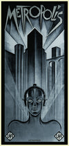 """Metropolis"" White Gold - Framed by Matt Dye/Blunt Graffix $250.00 - Hero Complex Gallery"