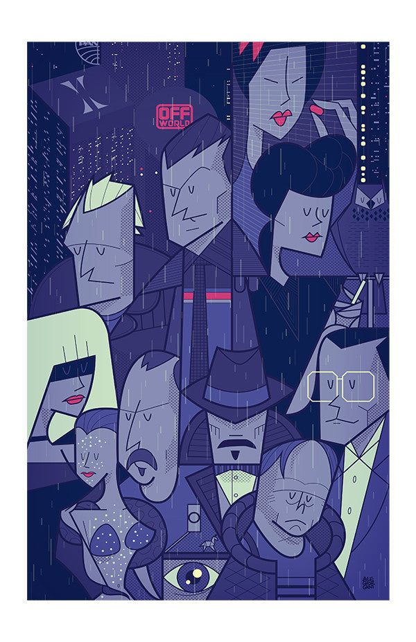 "Greetings from Los Angeles: ""Like Tears in Rain"" by Ale Giorgini - Hero Complex Gallery"