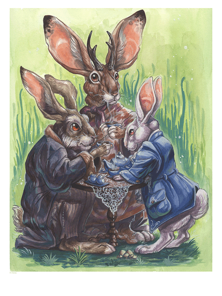 """Leporidae Tea Party"" by Brynn Metheney - Hero Complex Gallery"