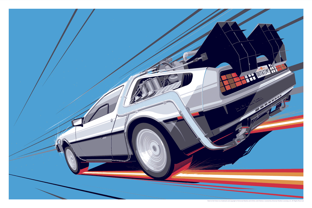 BTTF 1 - Paper Color Variants by Craig Drake - Hero Complex Gallery
