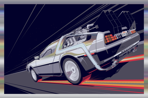 BTTF 1 - Foil Variant by Craig Drake - Hero Complex Gallery