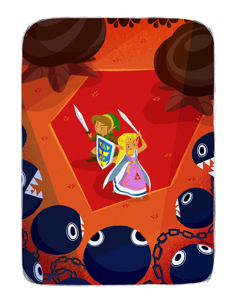 """Zelda vs Bow-Wows"" by Benson Shum - Hero Complex Gallery"
