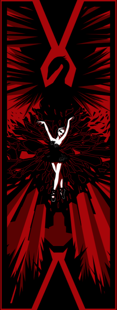 """Black Swan"" Framed by Indy Lytle - Hero Complex Gallery  - 1"