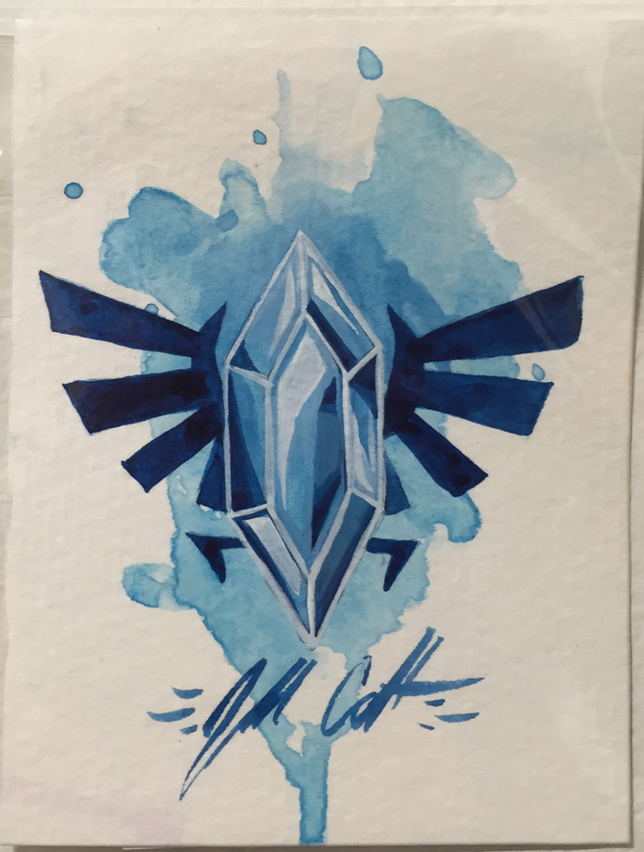 """Blue Rupee"" by Jill Colbert-Manfish Inc. - Hero Complex Gallery"