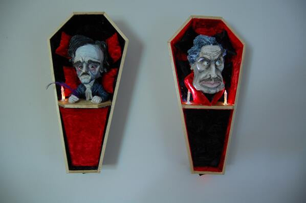 """Poe"" by M.W. Gaiss $300.00 - SOLD OUT - Hero Complex Gallery  - 2"