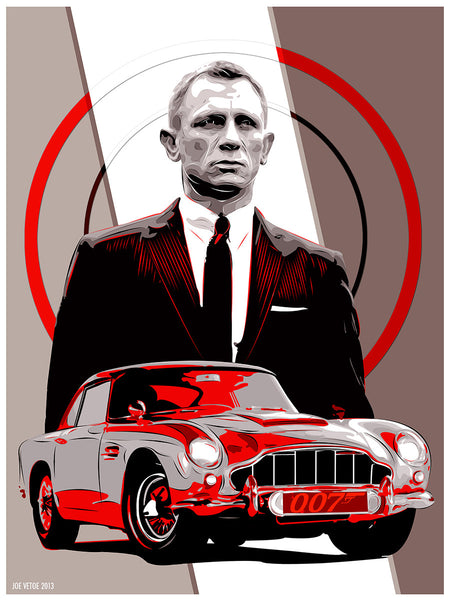 """Martin, Aston Martin"" by Joe Vetoe $40.00 - Hero Complex Gallery"
