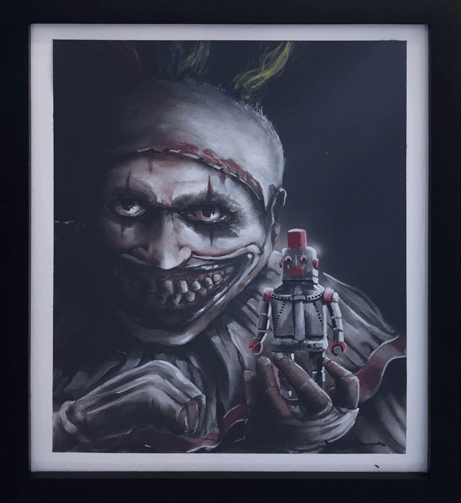 """I'm a good clown"" by Brian Hebets - Hero Complex Gallery"