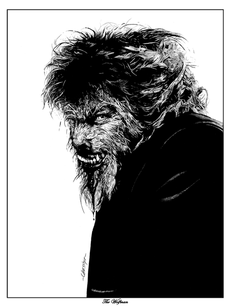 """The Wolfman"" by Nathan Chesshir - Hero Complex Gallery"