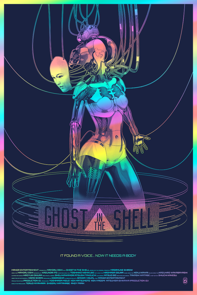 """Ghost in the Shell"" Foil Variant by Chris Skinner"