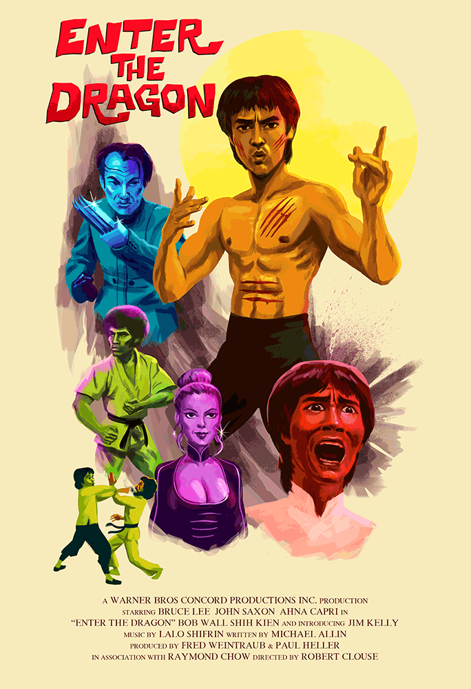 """Enter The Dragon"" by Christian Garland - Hero Complex Gallery"