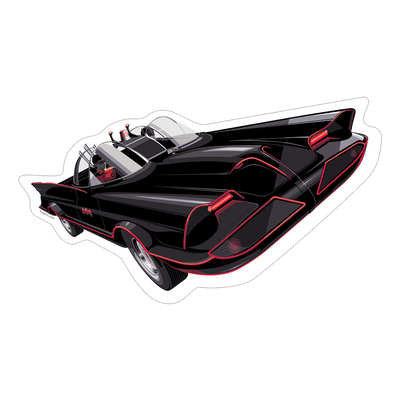 """Batmobile"" Sticker by Craig Drake"