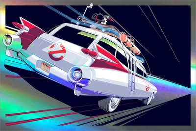 """Ecto-1"" Foil Variant by Craig Drake"