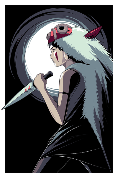 """Princess Mononoke"" by Craig Drake - Hero Complex Gallery"