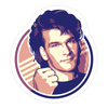 """Swayze"" Sticker by Craig Drake"