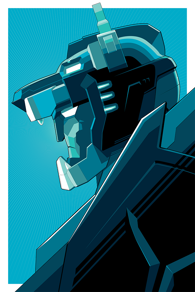 """Blue Voltron"" Foil Variant by Craig Drake - Hero Complex Gallery"