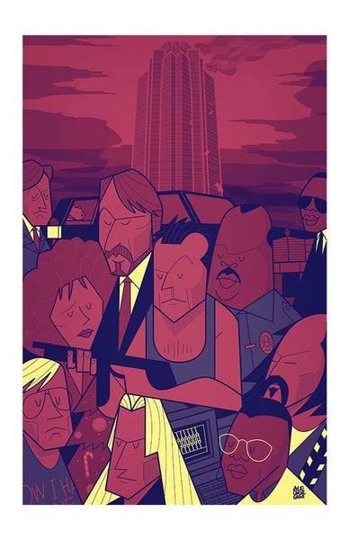 "Greetings from Los Angeles: ""Nakatomi"" by Ale Giorgini - Hero Complex Gallery"