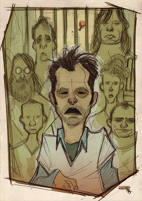 """One Flew Over the Cuckoo's Nest"" by Denis Medri $45.00 - Hero Complex Gallery"