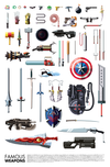 """Famous Weapons"" by Daniel Nyari - Hero Complex Gallery"