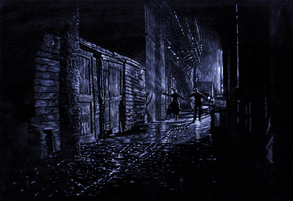 """The Alley"" by David Welker $30.00 - SOLD OUT - Hero Complex Gallery"